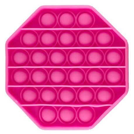 Опт Pop It Антистресс Игрушка - (Поп Ит - Попит - Popit) - Розовый восьмиугольник, фото 2