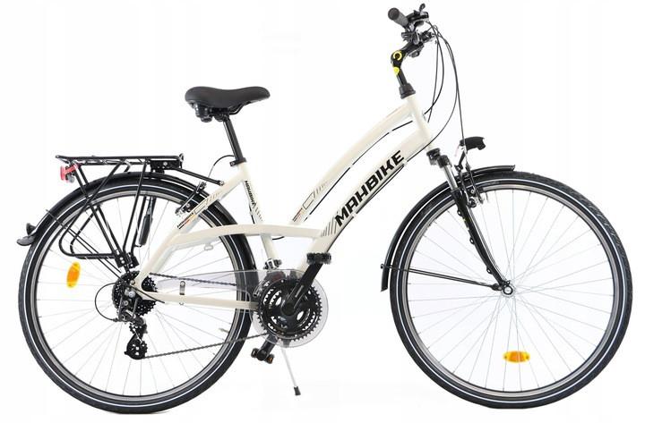 Велосипед женский городской Sprick 28 алюминиевый 24 передачи white с корзиной Польша