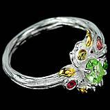 Турмалін різнобарвний срібне кільце, 1801КТ, фото 3
