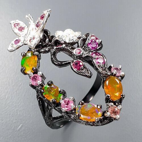 Опал огненный серебряное кольцо, 1806КО