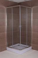 Квадратная душевая кабина Aqua-World Sliding SL9090Q ДкСк.90-Im стекло интимато, фото 1