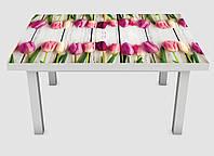 Наклейка на стол Zatarga Букет тюльпанов 650х1200 мм Z180218 TV, КОД: 1804343