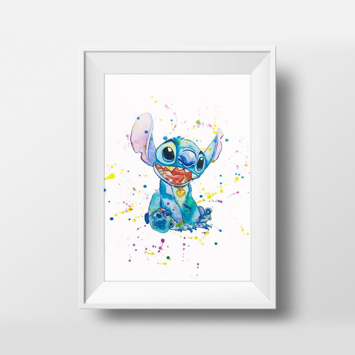 Плакат  Disney Stitch формат А3