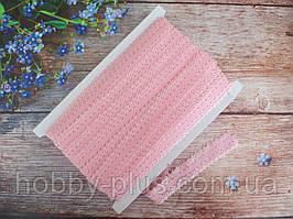 Бейка-резинка АЖУРНАЯ для повязок, цвет СВЕТЛО-РОЗОВЫЙ, 23 мм
