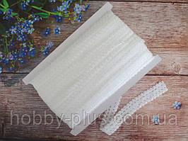 Бейка-резинка АЖУРНАЯ для повязок, цвет БЕЛЫЙ, 23 мм