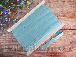 Бейка-резинка для повязок, цвет ГОЛУБОЙ, 15 мм