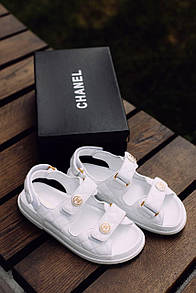 Жіночі Босоніжки Chanel Sandals White Leather