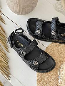 Жіночі Босоніжки Chanel Sandals Black Leather