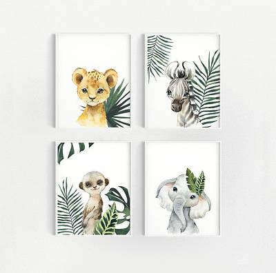 Набір постерів Baby animals формат А3