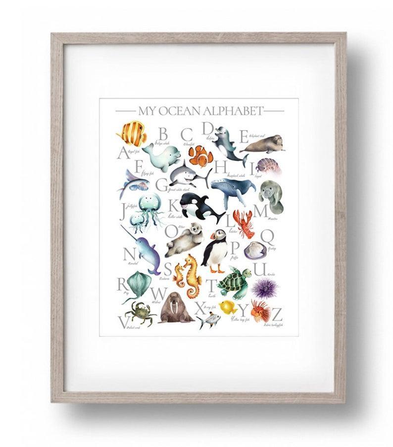 Плакат Ocean Alphabet формат А3