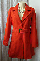 Пальто женское модное яркое демисезонное шерсть бренд Ellos р.46 4835