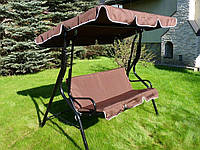 Садовая качель Bonro Relax коричневого цвета