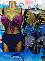 Купальник женский раздельный ГОРОХ размер батал 48-56,цвет уточняйте при заказе