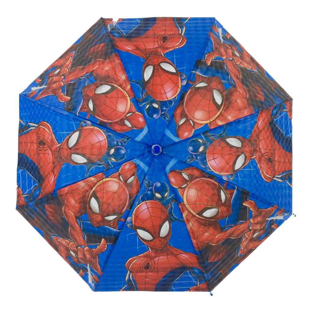 Детский зонтик Человек Паук трость полуавтомат со свистком