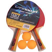 Набір для настільного тенісу пінг-понгу WEINIXUN 2 ракетки 3 м'ячі сітка з чохлом (A270)