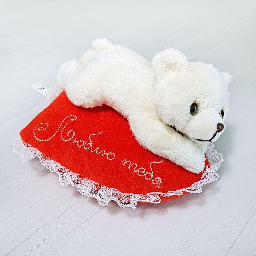 Мягкая игрушка Zolushka Медвежонок Кроха на сердце Люблю тебя 22см (ZL5442)