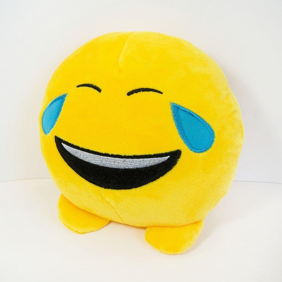 Мягкая игрушка Weber Toys смайлик emoji смехотунчик 18см (WT621)