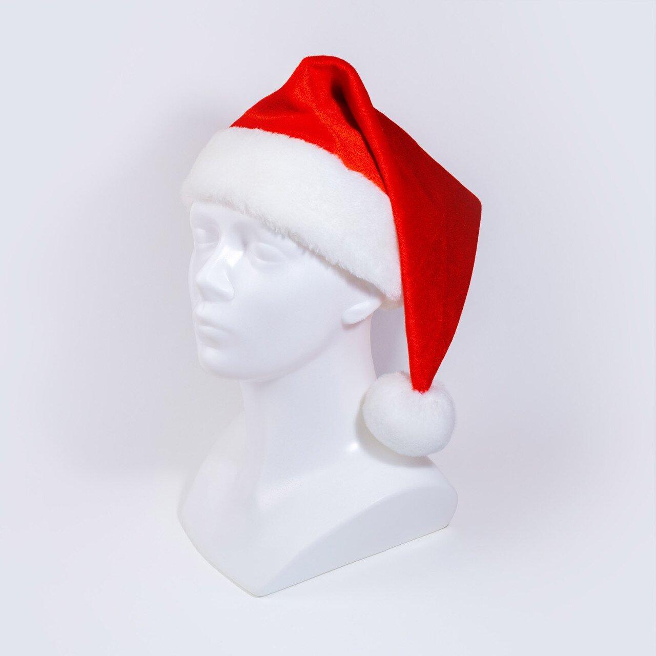 Маскарадна шапочка Zolushka новорічна червона (ZL2281)