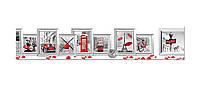 Наклейка виниловая кухонный фартук Zatarga Символы Европы 600х3000 мм Z181327 2 TP, КОД: 2386745
