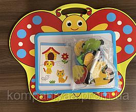 Детская деревянная магнитная Досточка для рисования маркером MD 2085 (Бабочка)