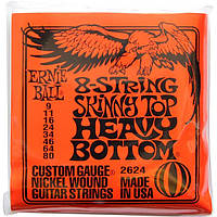 Струны Ernie Ball 2624 8-String Skinny Top Heavy Bottom 9-80