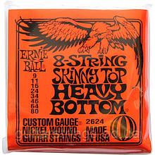 Струны Ernie Ball 2624 8-String Skinny Top Heavy Bottom 9-80