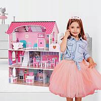 Кукольные домики.Домик для кукол с мебелью.Игровой кукольный домик для кукол.Дом для кукол.