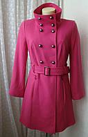 Пальто женское модное яркое демисезонное шерсть бренд M&S р.42-44 4836а