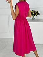Плаття завдовжки міді з резинкою на талії, кишені в бічних швах, фото 3