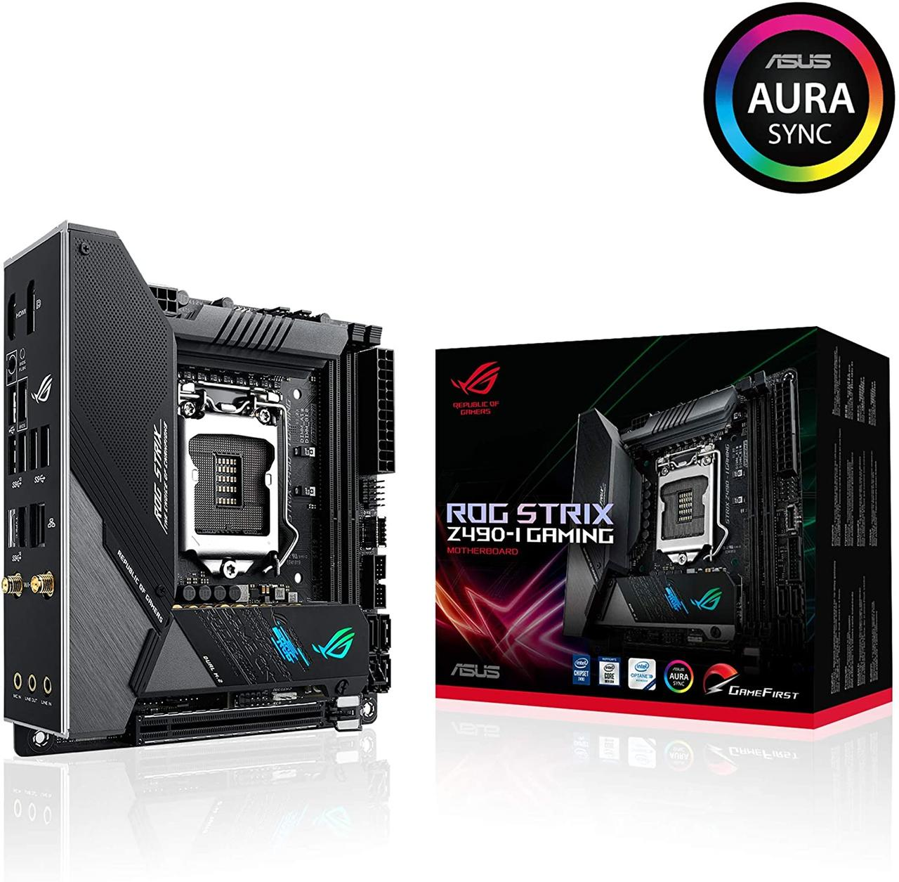 Материнська плата Asus ROG Strix Z490-I Gaming (s1200, Intel Z490, PCI-Ex16)