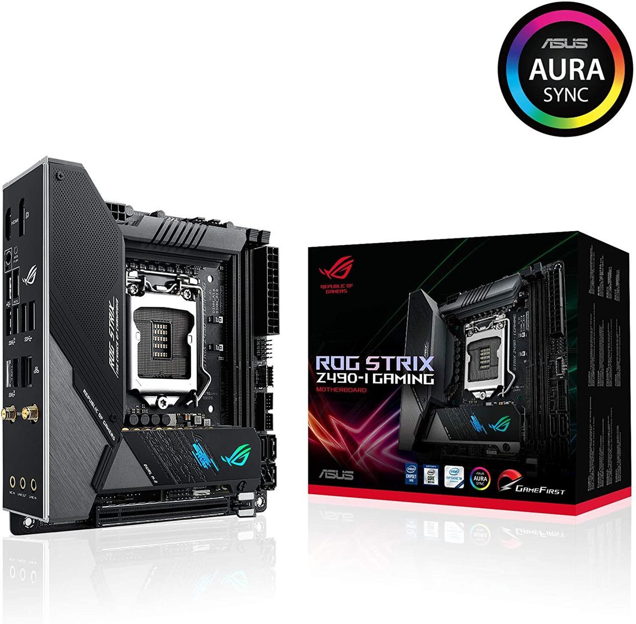 Материнская плата Asus ROG Strix Z490-I Gaming (s1200, Intel Z490, PCI-Ex16)