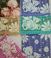 Кухонні рушники льон махра «ведмедики»Розмір 35/70. 12 шт в упаковці.