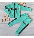 """Детский спортивный костюм в стиле """"Fendi"""" для девочки на рост 80-116 см, фото 2"""