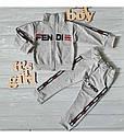 """Дитячий спортивний костюм в стилі """"Fendi"""" для дівчинки на зріст 80-116 сма, фото 6"""