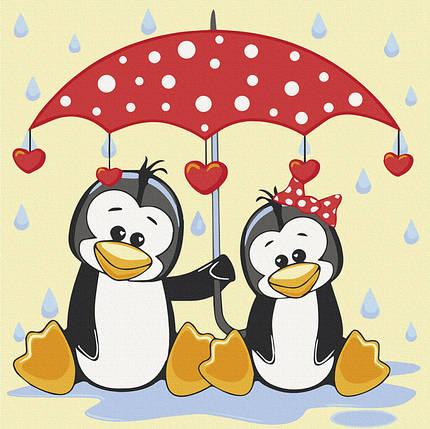 Картина по номерам Art Craft Пингвины под зонтиком 30х30 см 15543-AC, фото 2