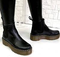 Женские стильные ботинки на высокой платформе Dr. Martens, фото 1