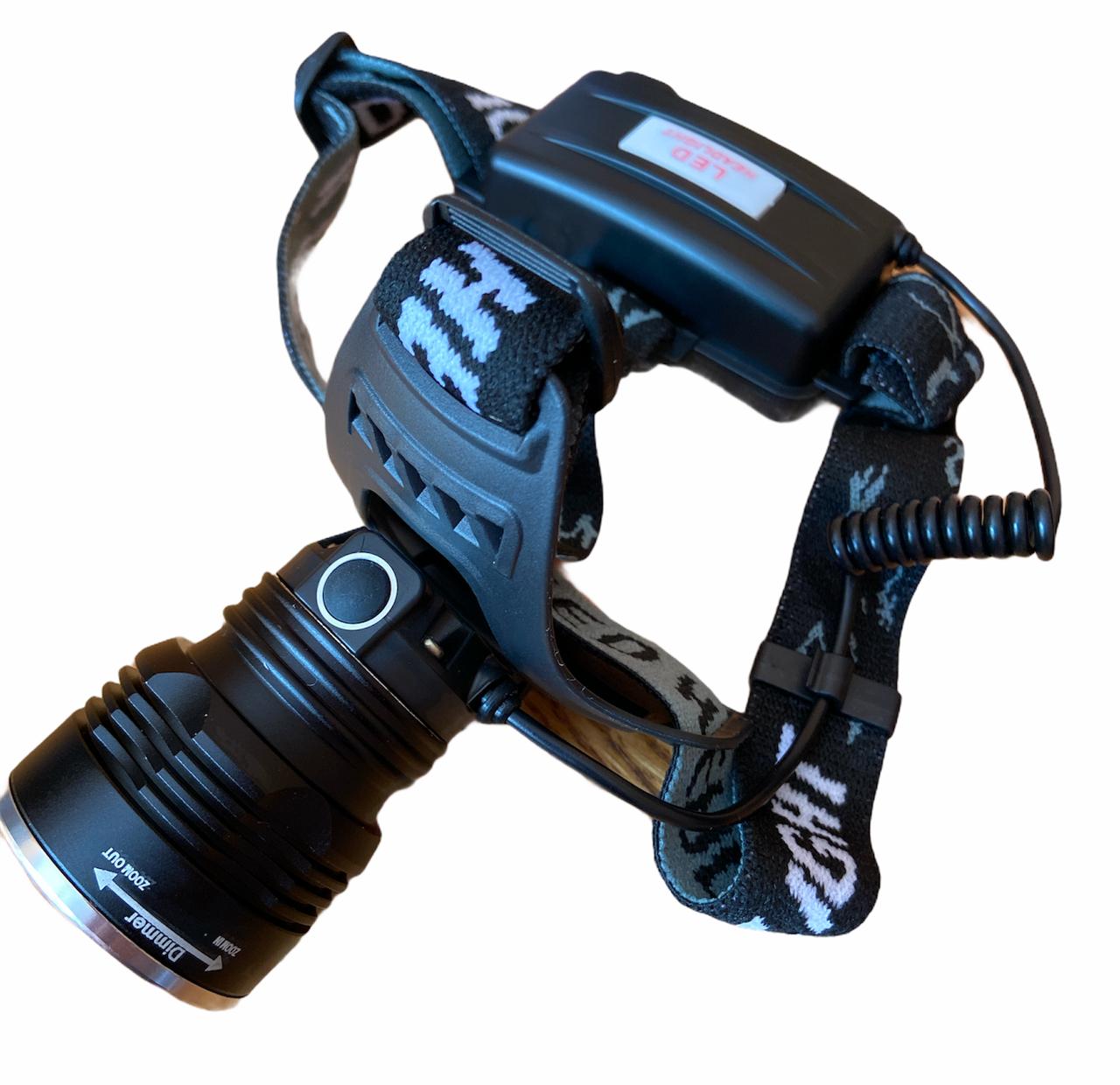Налобний ліхтарик світлодіодний аккумуляторний BL-T907-T6 2*18650 ZOOM