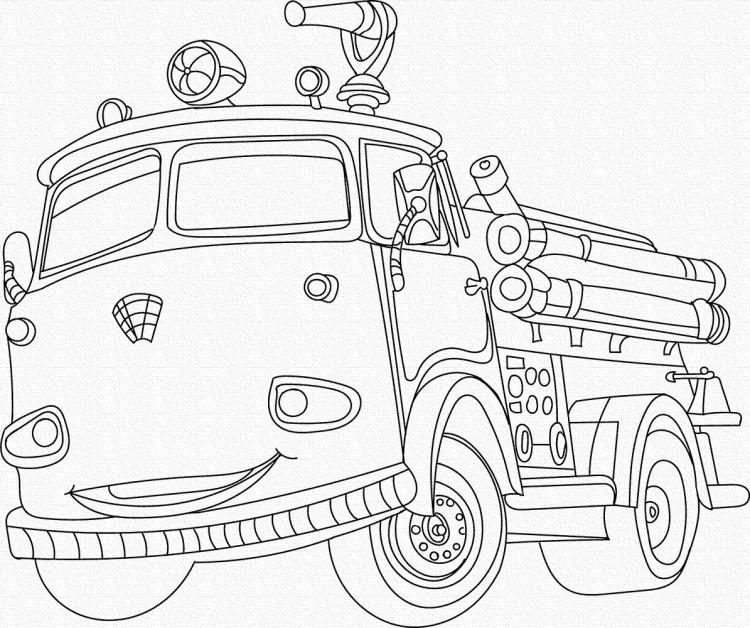 Роспись на холсте детская Art Craft Пожарная машина 25х30 см, 15520