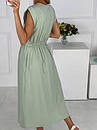 Летнее женское платье миди с карманами в боковых швах, фото 2