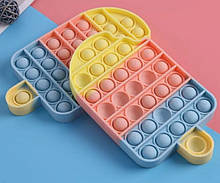 Антистресс Pop It Поп Ит Пупырка КАЧЕСТВЕННАЯ игрушка с пузырьками - мороженое IceCream