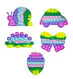 Антистрес Pop It Поп Іт Пупирка ЯКІСНА іграшка з бульбашками - Равлик, фото 2