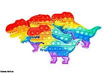 Антистресс Pop It Поп Ит Пупырка КАЧЕСТВЕННАЯ игрушка с пузырьками - Динозавр
