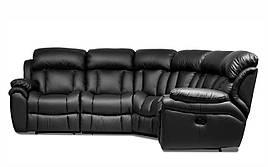 Кожаный угловой диван реклайнер Бостон