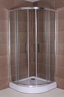 Полукруглая душевая кабина Aqua-World Sliding SL8080R ДкСр.80-Im стекло интимато, фото 1