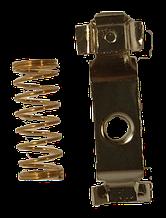 04072019 Ремкомплект на щітки вертикальної кавомолки(пружина + контакт)