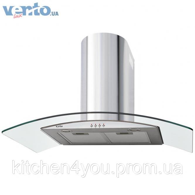 Ventolux Ferrara 90 inox (800) декоративна кухонна витяжка, нержавіюча сталь / скло