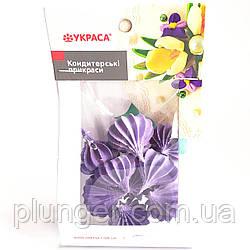 Цукрова прикраса для кондитерських воробів Безе фиолетовый