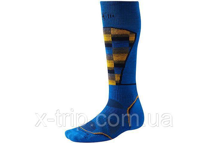 Термошкарпетки Smartwool men's PhD Ski Medium Pattern Socks L, BRIGHT BLUE (378)