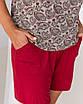 """Жіночий легкий комплект для будинку футболка і шорти великих розмірів """"Турецький огірок"""", фото 3"""