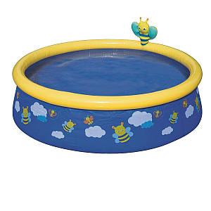 Детский надувной бассейн Bestway 57326 «Пчелки», 152 х 38 см, синий, (Оригинал)